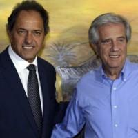 Tabaré Vázquez y gobernador de BS.AS, Daniel Scioli, se reunieron en Colonia