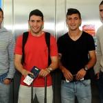 La selección uruguaya partió rumbo a Arabia para disputar sus amistosos