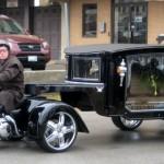 La carroza fúnebre tirada por una Harley Davidson se convierte en éxito en EE.UU.