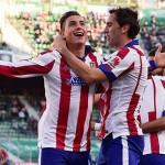 """""""Josema"""" Giménez convirtió su primer gol con el Atlético en la victoria 2-0 ante Elche"""