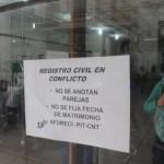 Funcionarios de Registro Civil suspenden casamientos hasta próxima semana