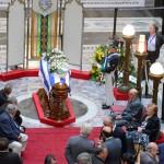 Presidente Mujica, ministros, diplomáticos, legisladores y familiares dan último adiós a Alberto Breccia
