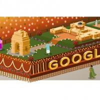 Doodle de Google conmemorando el 66º aniversario de la Independencia de la India
