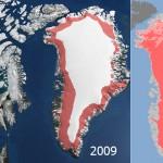 Dos gigantescos lagos bajo el hielo en Groenlandia licuados en cuestión de semanas