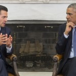"""Obama """"preocupado"""" por los 43 estudiantes desaparecidos al recibir al presidente mexicano"""