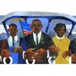 Doodle de Google en tributo a Martin Luther King Jr. en el 85º aniversario de su nacimiento