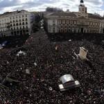 Multitudinaria marcha en Madrid organizada por el movimiento Podemos para recuperar la dignidad y ayudar al cambio