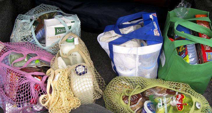 No usar bolsas de nylon, usar bolsas de tela reutilizables