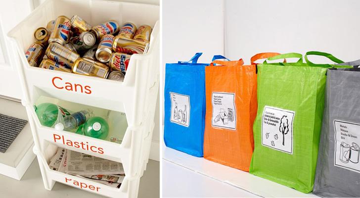 Crea un clasificador de basura con contenedores