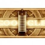 Doodle de Google para Alessandro Volta, físico italiano que inventó la pila eléctrica en 1800