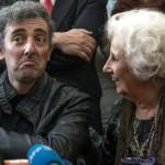 Estela de Carlotto estuvo acompañando a su nieto en el Concierto por la Memoria