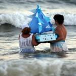 Este lunes se realiza el homenaje a la diosa del Mar, Iemanjá, una fiesta en toda la costa