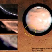 Marte: nube de 500 quilómetros de extensión y 50.000 metros de altura asombra a los astrónomos