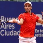 Pablo Cuevas batalló, pero no pudo con Juan Mónaco en el ATP de Buenos Aires