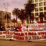 Unión de Trabajadores Azucareros de Artigas (UTAA) marcha a Montevideo contra desempleo y por salario