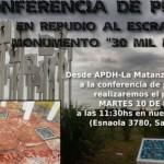 Acción vandálica contra monumento en homenaje a desaparecidos en Argentina genera rechazo