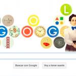 Doodle de Google para Emmy Noether, matemática alemana que revolucionó el álgebra