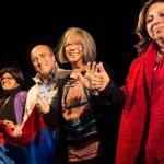 Los tres candidatos a la IMM por el FA compartieron el escenario a 44 años de primer acto de masas de la izquierda