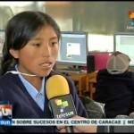 Escolares bolivianas crean un brazo robótico, con materiales de desecho, y ganan primer premio de las Olimpíadas Científicas