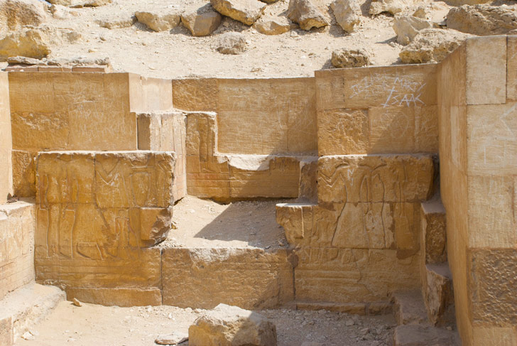 Jeroglíficos en una mastaba de la Necrópolis de Giza, en las afueras de El Cairo / Foto: Todd @future15 en Flickr