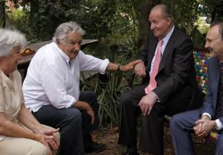 Visita del Rey: José Mujica recibió al Rey Juan Carlos de Borbón en su chacra