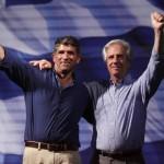 Tabaré Vázquez y Raúl Sendic conversaron con Cristina Fernández y expresaron voluntad de reunirse