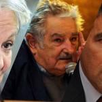 Topolansky, Mujica y Sendic participan de marcha en respaldo a Venezuela