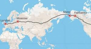 Moscú planea la carretera más larga del mundo: 21.000 kilómetros de Londres a Nueva York atravesando Rusia