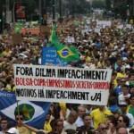Protesta masiva en Brasil contra medidas de ajuste del gobierno y corrupción en Petrobras