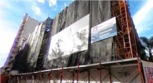 Trabajos de recuperación de la fachada del Cabildo culminarán en próximos meses