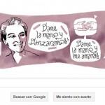 Doodle de Google para Gabriela Mistral, la única escritora latinoamericana que ganó el Premio Nobel