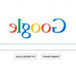 """Google saluda con el buscador """"al revés"""" el April fool´s day, equivalente al Día de los inocentes"""