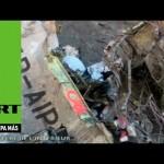 Francia publica el primer video de rescatistas llegando al avión siniestrado de Germanwings