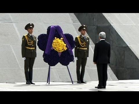 Líderes mundiales se dan cita en la capital de Armenia recordando los 100 años de genocidio cometido por los turcos otomanos