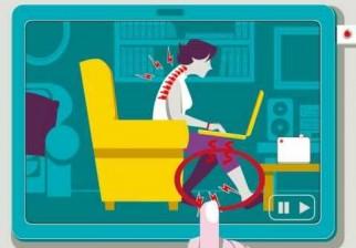 ¿Cómo sentarse correctamente frente a la computadora?
