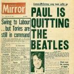 """""""Paul deja The Beatles"""": Se cumplen 45 años de la portada que sacudió la música del mundo"""
