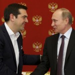 Primer ministro griego se reúne con Vladimir Putin pero sin pedir ayuda financiera para su crisis en la Unión Europea