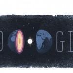 Doodle de Google en el 127º aniversario del nacimiento de la sismóloga danesa Inge Lehman
