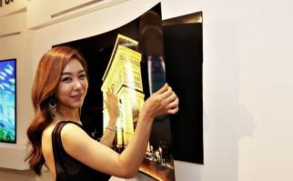 LG Display presenta el televisor más delgado del mundo: 1 milímetro de espesor y se puede pegar a la pared