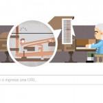 Doodle de Google para Bartolomeo Cristofori que inventó el arpicembalo, un instrumento al que la gente bautizó: el piano