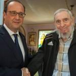 """Fidel Castro recibe a Francois Hollande, que promete """"hacer respetar"""" a Cuba en deshielo con EE.UU."""