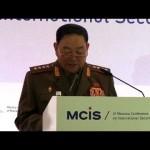 Corea del Sur afirma que ministro de Defensa del Norte fue ejecutado por dormirse en acto de Kim Jong-un