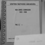 ONU anuncia que publicará 400.000 folios de investigaciones secretas, de la Comisión de Crímenes de Guerra, creada tras la II Guerra Mundial