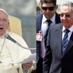 El papa Francisco recibe al presidente cubano Raúl Castro