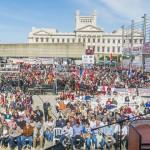 Contra el TISA, mayor inversión pública, IRPF y el Fondes centraron acto del PIT-CNT con presencia de altas figuras de gobierno