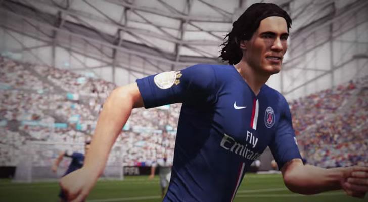 Cavani en el trailer del FIFA 16 mostrado en el E3 / Foto: Electronic Arts