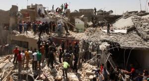 Avión perteneciente al ejército iraquí deja caer por accidente una bomba sobre Bagdad y mueren 12 personas