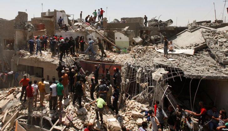 Bomba en el cementerio de la ciudad de Ica