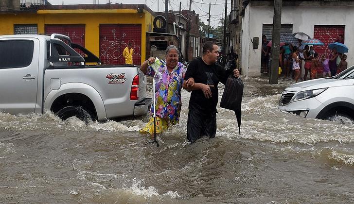 Los reportes de Rio Grande del Sur consignan que las lluvias del presente mes de Julio han superado largamente los promedios de la región. Foto: AFP.