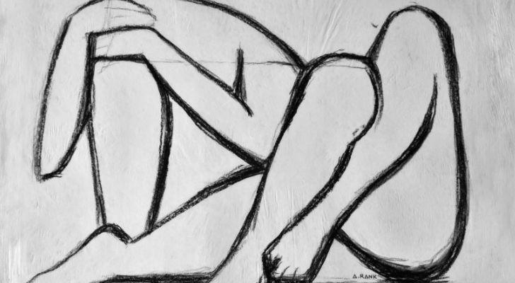 Anna Rank, Estructuras Humanas, dibujo en carbonilla sobre papel ecologico, 100x80 cm